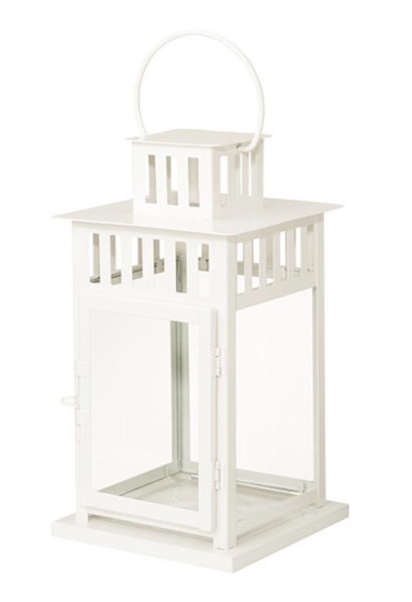 """White Borrby Lantern - 18"""""""