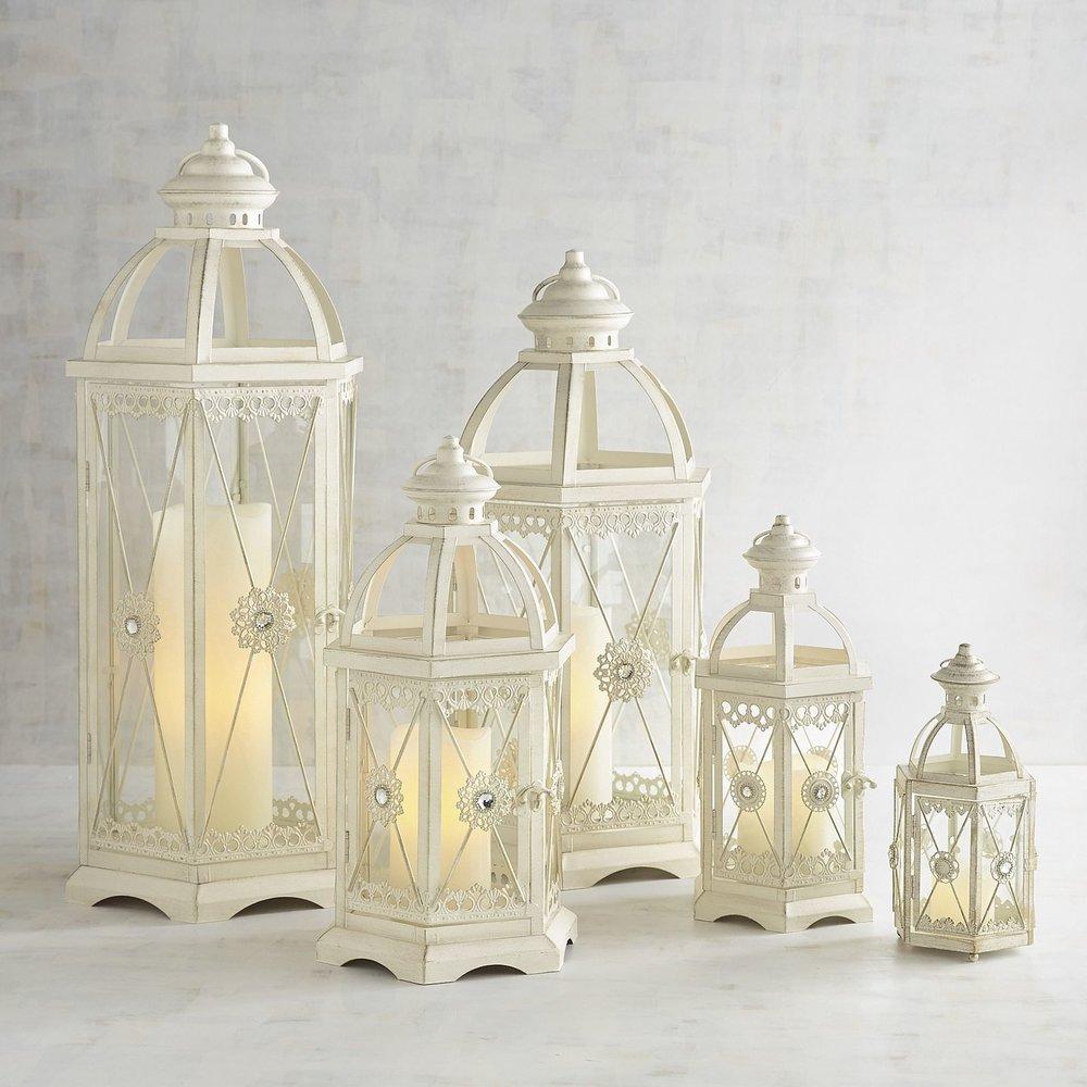 White Hexagon Lanterns