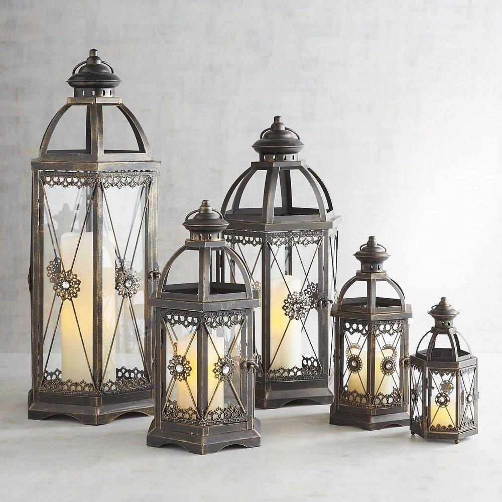 Brown Hexagon Lanterns