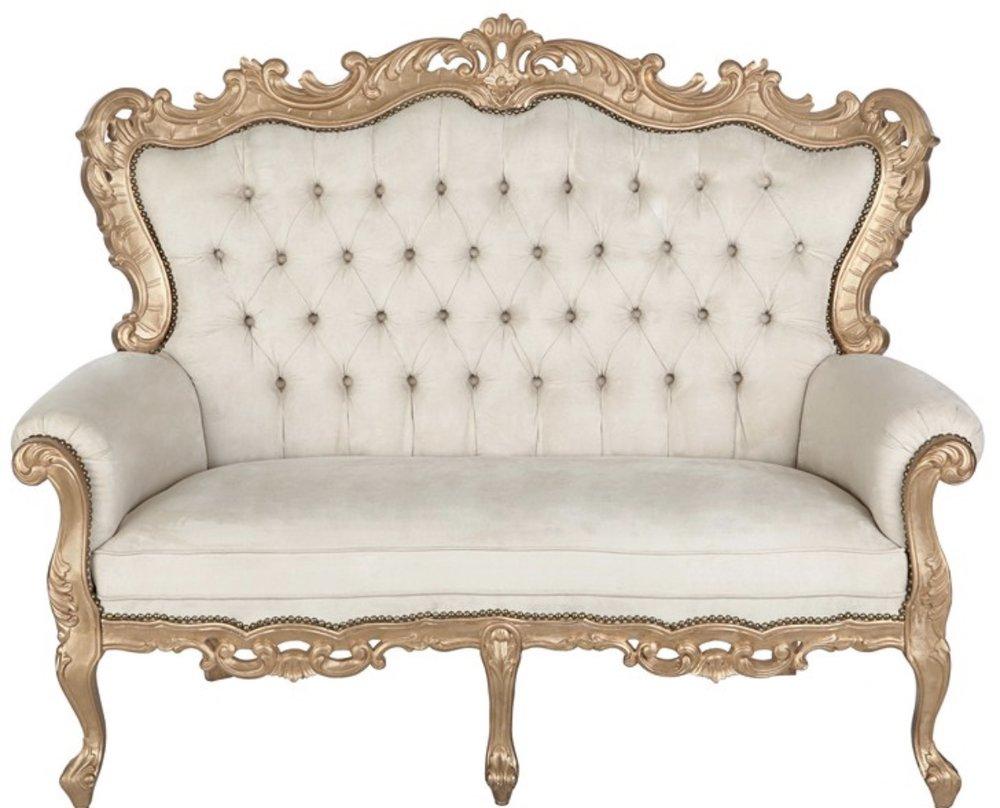 Gold Luxury Loveseat