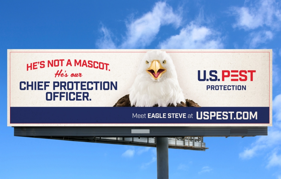 "bohan | U.S. Pest ""Eagle Steve"" billboard"