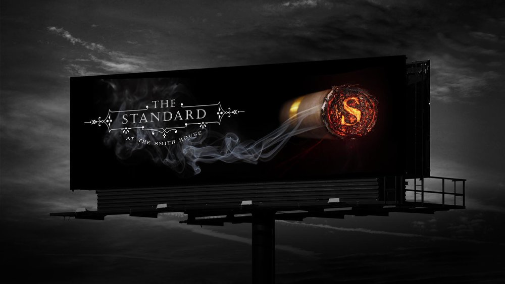 bohan | The Standard lit cigar billboard