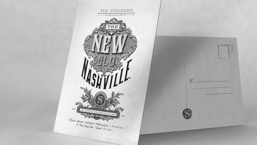 "bohan | The Standard direct mail postcard ""The New Old Nashville"""