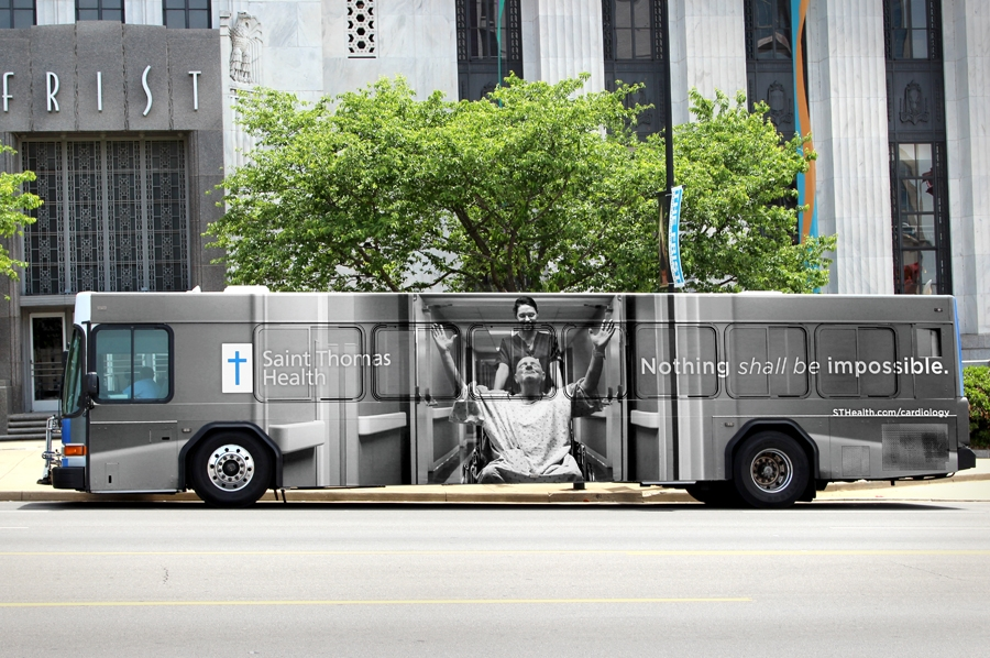 bohan | Saint Thomas Bus Wrap Nothing shall be impossible