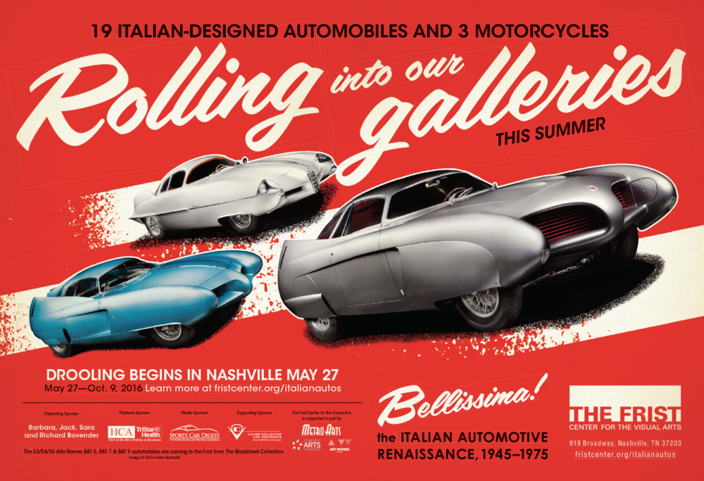bohan-Frist Bellissima red poster Italian Automotive
