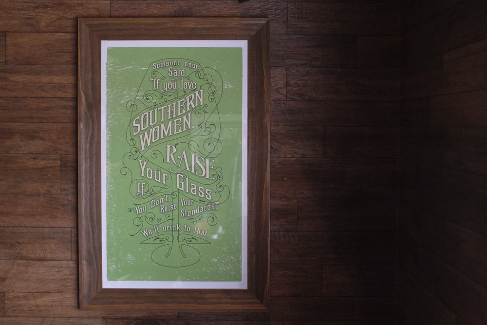 "bohan | O'Charley's ""If you love Southern Women raise your glass"" - store interior poster"