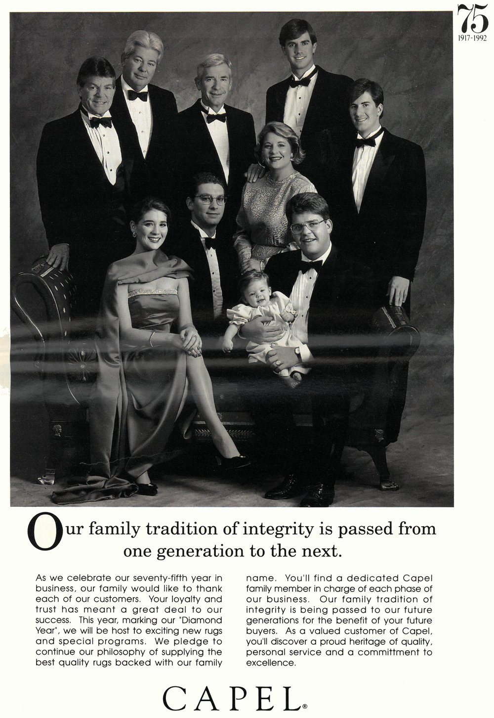 1992 Capel 75th Anniversary ad