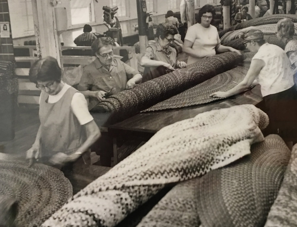 At work in the Capel mill, 1960s