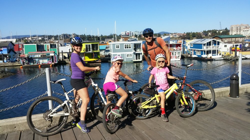 Cycling in victoria, BC in 2017.