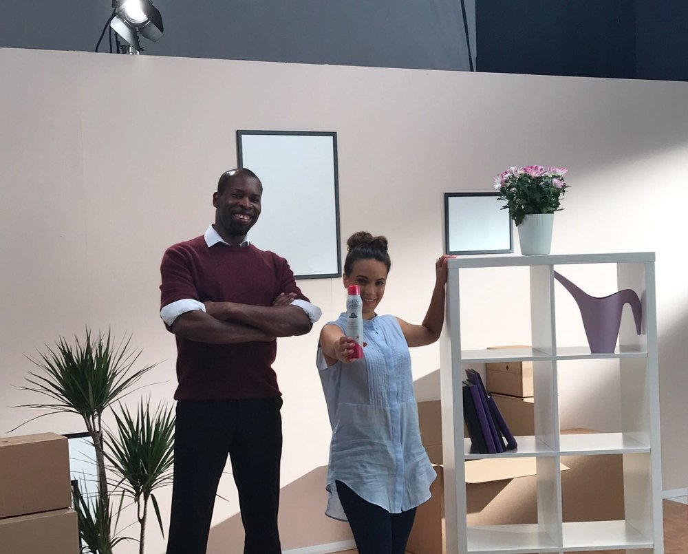 JULY   I had a great time shooting my first commercial for the antiperspirant Soft & Gentle at the East London studios. It is shown on Facebook, YouTube and Instagram.  See the ad.