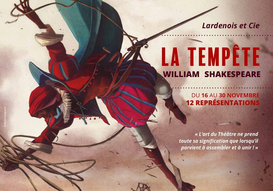MARCH   I am thrilled to be cast as  Caliban  in a new French version of Shakespeare's   La Tempête.   Performances will take place in November 2017 at the Théâtre de Privas (France).