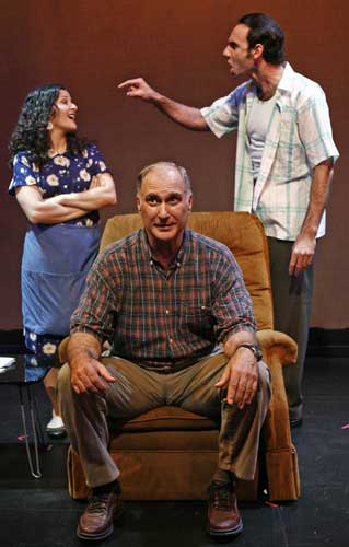 Rozie Bacchi, Tony Campisi, and Derek Lucci in AMICI ASCOLTATE. Photo by Carol Rosegg. Summer Shorts 2007.