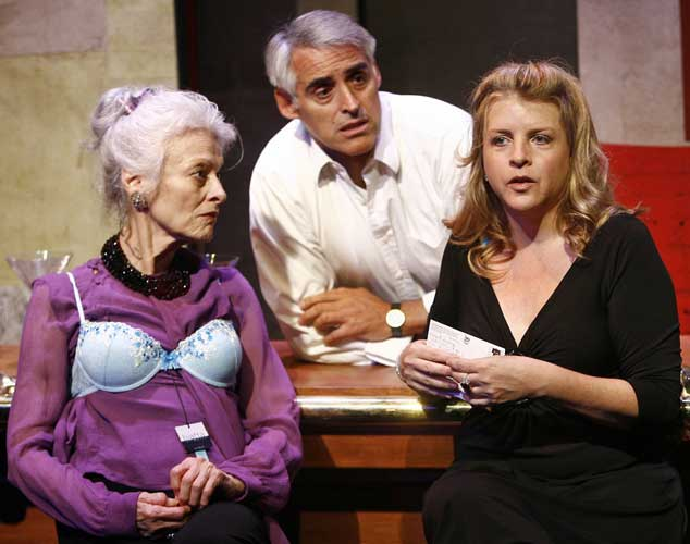 Judith Roberts, Mark Elliot Wilson and Stephanie Cannon in RAIN, HEAVY AT TIMES. Photo by Carol Rosegg. Summer Shorts 2007.