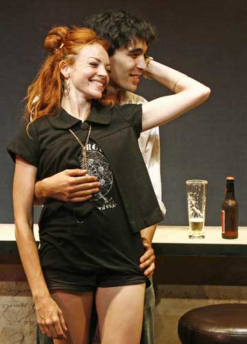 Nicole LaLiberté and David Marcus in REAL WORLD EXPERIENCE. Photo by Carol Rosegg. Summer Shorts 2007.