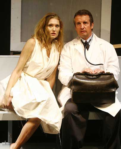 James Katharine Flynn and Grant Shaud in SKIN DEEP. Photo by Carol Rosegg. Summer Shorts 2007.