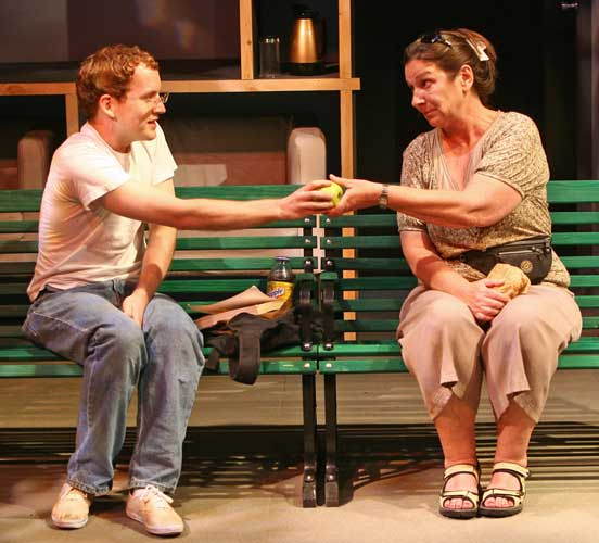 David Beck and Mary Joy in ON A BENCH. Photo by Carol Rosegg. Summer Shorts 2008.