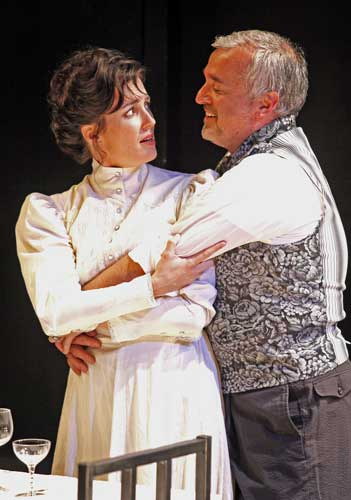 Leenya Rideout and Robert W. Dusold in THE ETERNAL ANNIVERSARY. Photo by Carol Rosegg. Summer Shorts 2009.