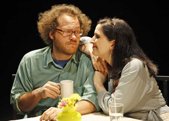 Andy Grotelueschen and Stephanie D'Abruzzo in DON'T SAY ANOTHER WORD. Photo by Carol Rosegg. Summer Shorts 2009.