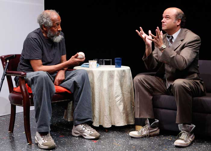 Arthur French and Scott Adsit in HAPPY. Photo by Carol Rosegg. Summer Shorts 2010.