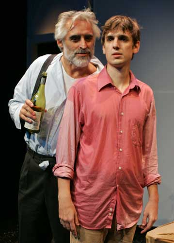 Mark Elliot Wilson and James Leighton in AN ACTOR PREPARES. Photo by Ari Mintz. Summer Shorts 2010.