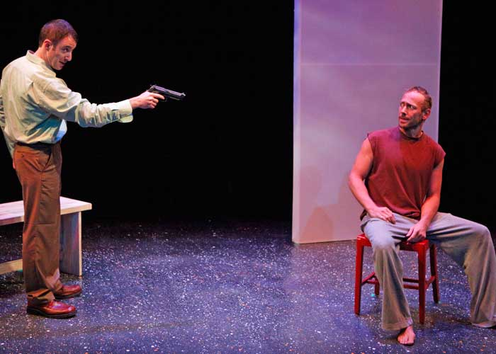 J.J. Kandel and P.J. Sosko in JONATHAN'S BLAZE. Photo by Carol Rosegg. Summer Shorts 2010.