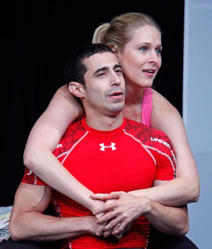 José Joaquin Perez and Kate Cullen Roberts in FIT. Photo by Carol Rosegg. Summer Shorts 2010.
