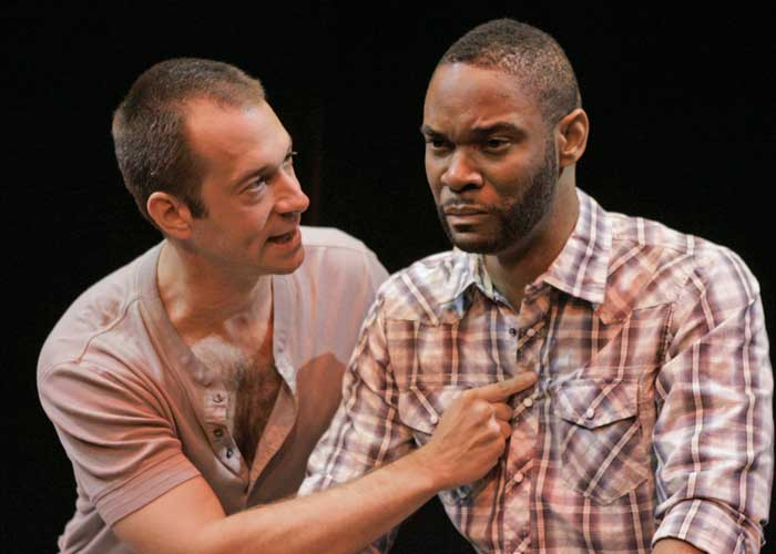 Jeff Binder and Demond Green in ROMANCE. Photo by Ari Mintz. Summer Shorts 2010.