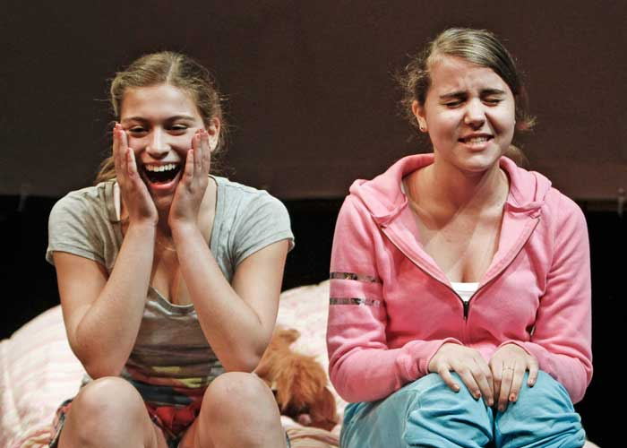 Lydia Weintraub and Louise Sullivan in CARRIE & FRANCINE. Photo by Rahav Segev. Summer Shorts 2011.