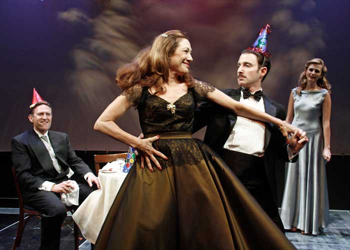 Victor Slezak, Meg Gibson, J.J. Kandel and Megan Ketch in CLAP YOUR HANDS. Photo by Rahav Segev. Summer Shorts 2011.