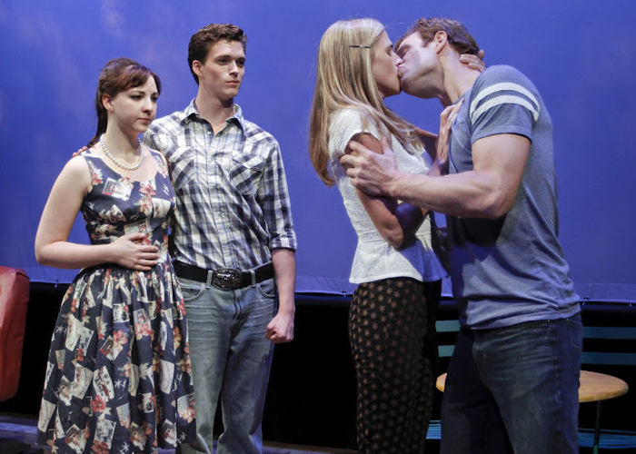 Megan Ketch, Connor Buckley, Erin Darke, and Nick Gehlfuss in DRIVE-IN DREAMS. Photo by Rahav Segev. Summer Shorts 2012.