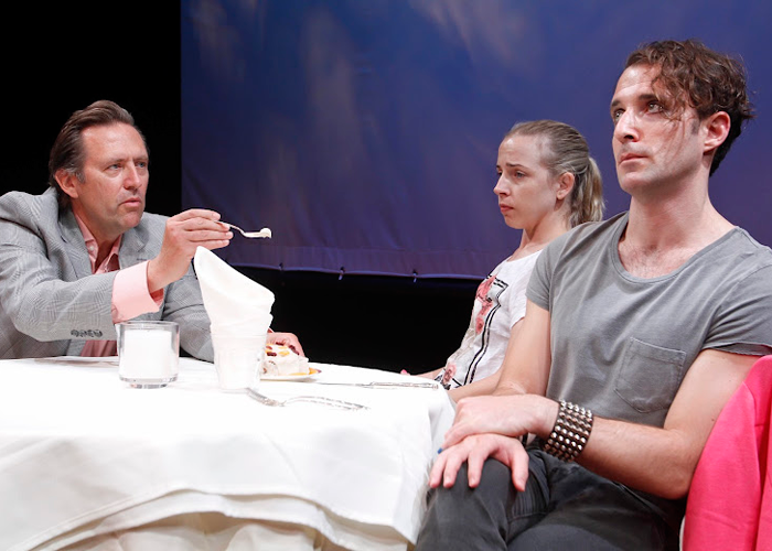 Victor Slezak, Alicia Goranson and J.J. Kandel in THE FURIES. Photo by Rahav Segev. Summer Shorts 2012.