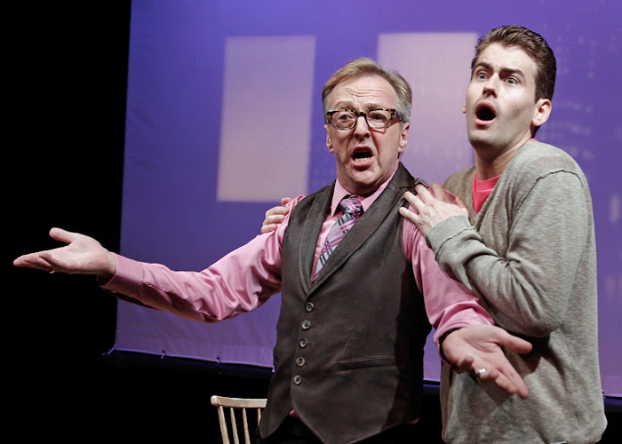 Edward Hibbert and Kevin Greene in LOVE AND REAL ESTATE. Photo by Rahav Segev. Summer Shorts 2012.