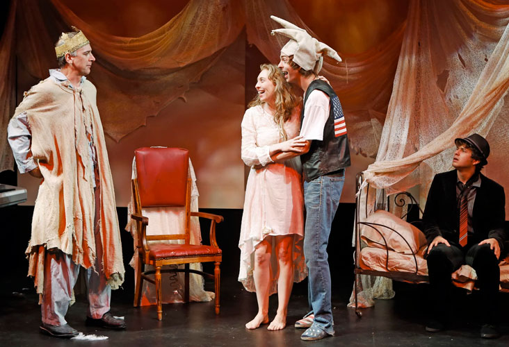 Michael Countryman, Crystal Finn, Evan Shinners and Jesse Scheinin in BREAKING THE SPELL. Photo by Carol Rosegg. Summer Shorts 2013.