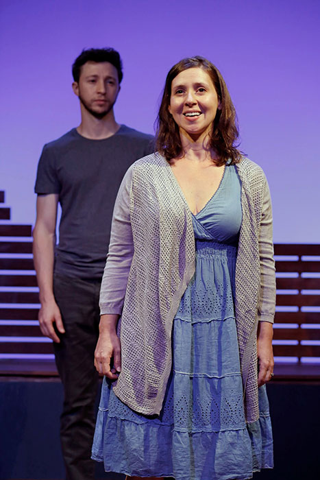 Adam Green and Miriam Silverman in RIVERBED. Photo by Carol Rosegg. Summer Shorts 2014.