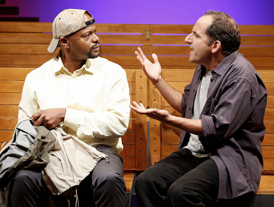Cezar Williams and Peter Jacobson in SEC. 310, ROW D, SEATS 5 AND 6. Photo by Carol Rosegg. Summer Shorts 2014.