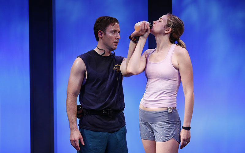 J.J. Kandel and Clea Alsip in 10K written and directed by Neil LaBute, part of Summer Shorts 2015 at 59E59 Theaters. Photo by Carol Rosegg.