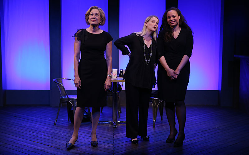 Meg Gibson, Kellie Overbey and Michelle Beck in THE SENTINELS by Matthew Lopez, directed by Stephen Brackett, part of Summer Shorts 2015 at 59E59 Theaters. Photo by Carol Rosegg.