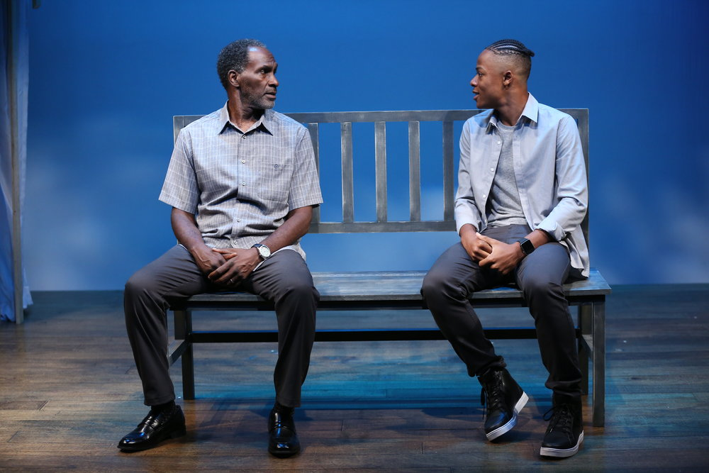 L-R: Harold Surratt and Deandre Sevon in IBIS by Eric Lane, part of Summer Shorts 2018 at 59E59 Theaters. Photo by Carol Rosegg.