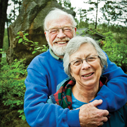 Eugene Peterson and his wife Jan