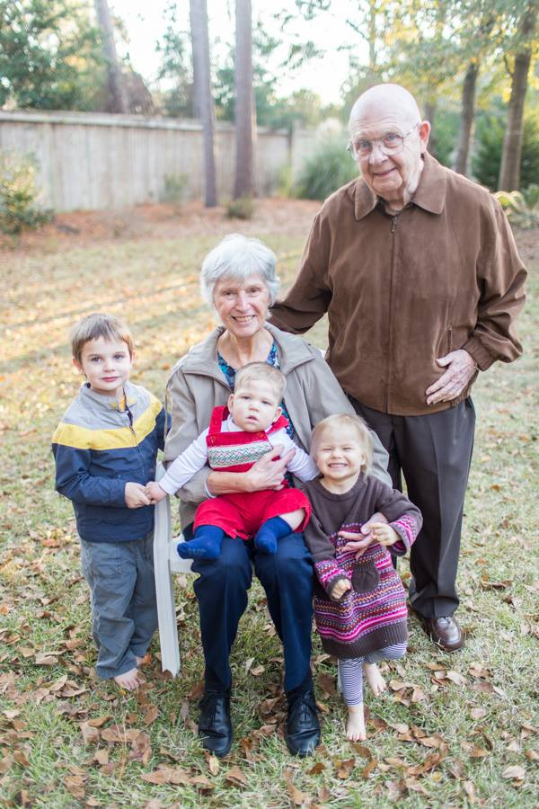 With all their great grandchildren in Statesboro, Ga, 2012.