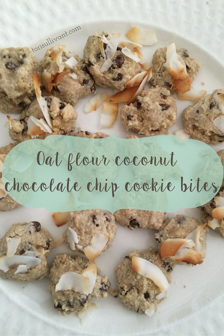 Oat flour coconut chocolate chip cookie bites.jpg