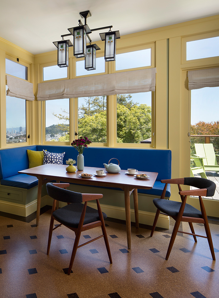 Breakfast Nook with Vintage Table & Chairs