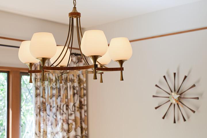Mid-Century Modern Vintage Light Fixture