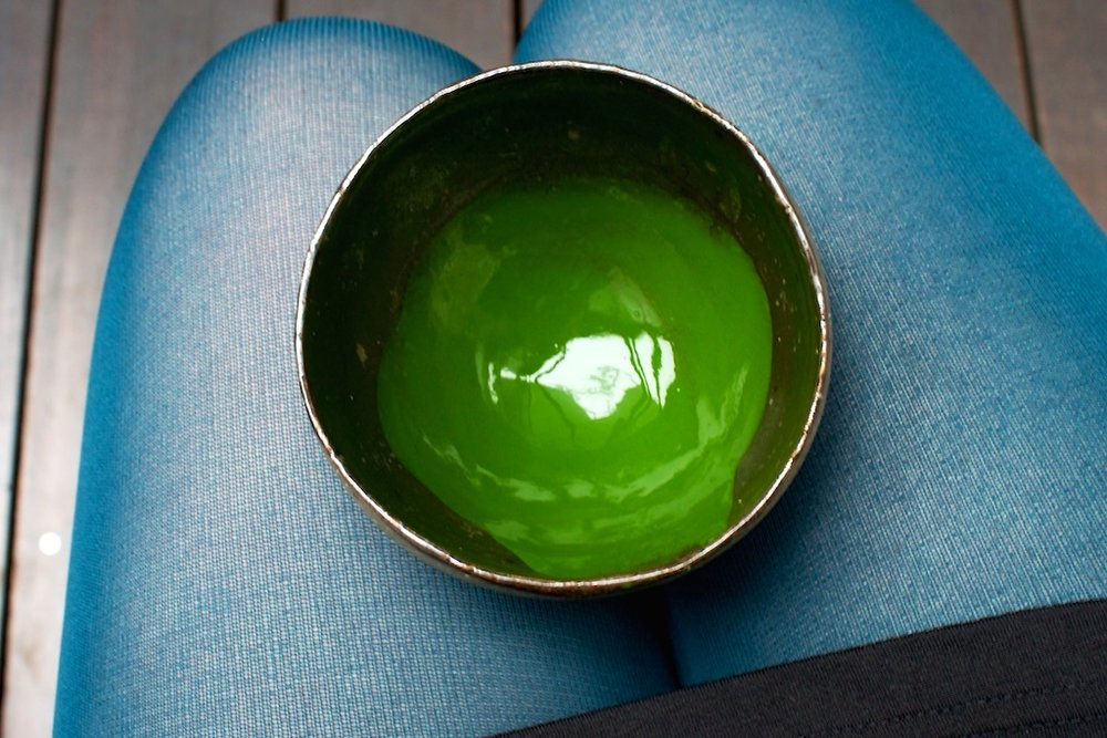 drinking amazing #matcha green tea in #Tokyo. so green, So Good! <3