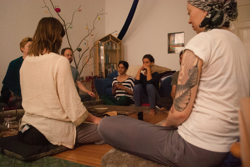 Leading a tea & Meditation Event in Berlin (2014)