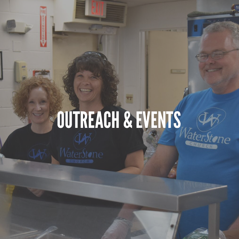 At WaterStone Church we are known for being the reaching arms in our community. Whether it's an event with our local cities, serving at local organizations, or assisting those in need within our church, there's always an opportunity to love on others. We have events and outreach opportunities, monthly!