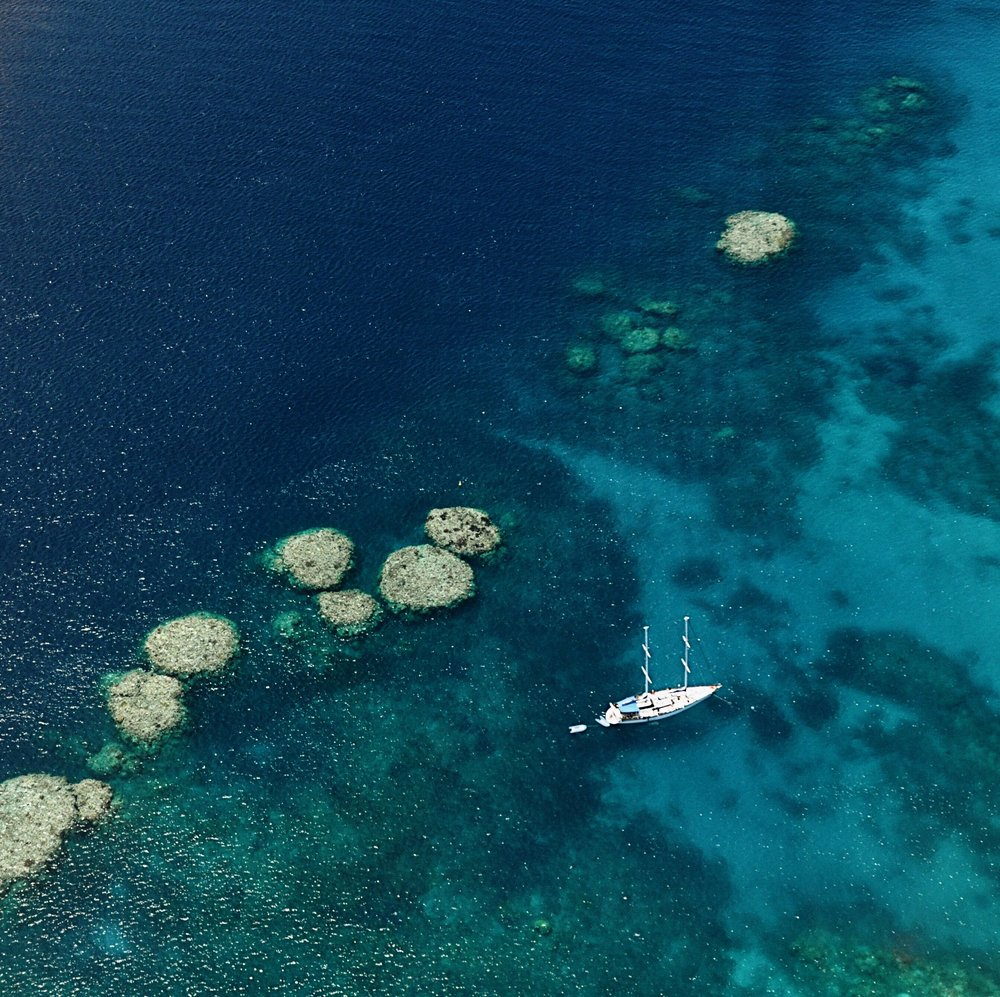Boats in the Great Barrier Reef