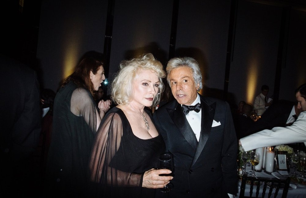 Debbie Harry with Giancarlo Giametti, co-founder of Valentino / Photo: The New York Times