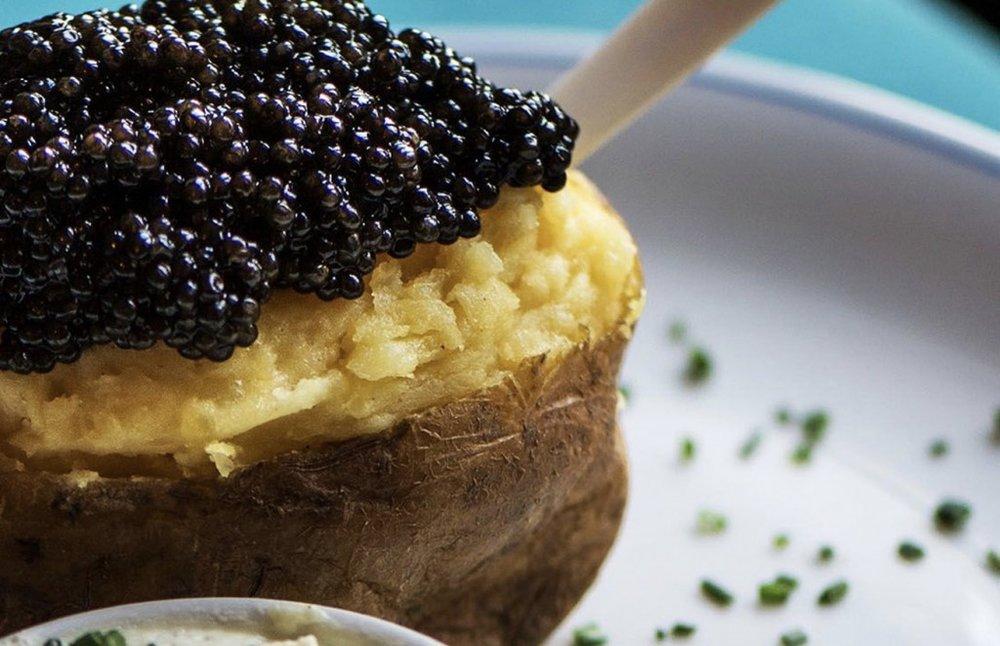 Caviar Kaspia's Pommes De Terre Au Caviar