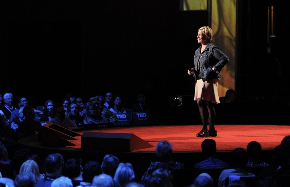 Dr Brené Brown speaking at TED in 2012
